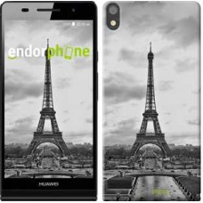 Чехол для Huawei Ascend P6 Чёрно-белая Эйфелева башня 842c-39