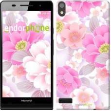 Чехол для Huawei Ascend P6 Цвет яблони 2225c-39