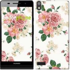 Чехол для Huawei Ascend P6 цветочные обои v1 2293c-39