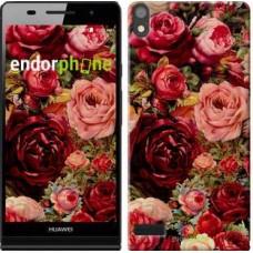 Чехол для Huawei Ascend P6 Цветущие розы 2701c-39