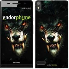 Чехол для Huawei Ascend P6 Дьявольский волк 833c-39