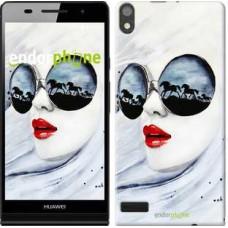 Чехол для Huawei Ascend P6 Девушка акварелью 2829c-39