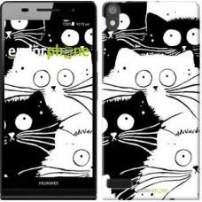 Чехол для Huawei Ascend P6 Коты v2 3565c-39