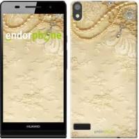 Чехол для Huawei Ascend P6 Кружевной орнамент 2160c-39
