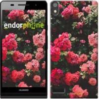 Чехол для Huawei Ascend P6 Куст с розами 2729c-39