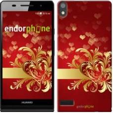 Чехол для Huawei Ascend P6 Ажурные сердца 734c-39