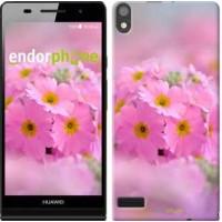 Чехол для Huawei Ascend P6 Розовая примула 508c-39