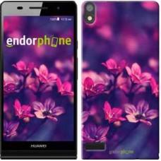 Чехол для Huawei Ascend P6 Пурпурные цветы 2719c-39