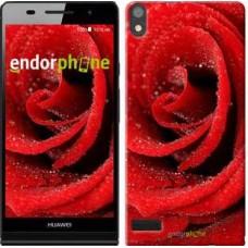 Чехол для Huawei Ascend P6 Красная роза 529c-39