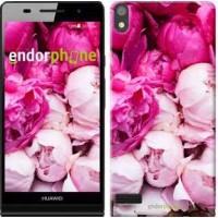 Чехол для Huawei Ascend P6 Розовые пионы 2747c-39