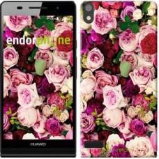 Чехол для Huawei Ascend P6 Розы и пионы 2875c-39