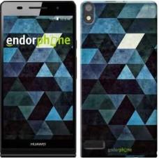 Чехол для Huawei Ascend P6 Треугольники 2859c-39