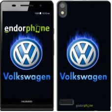 Чехол для Huawei Ascend P6 Volkswagen. Fire logo 3141c-39