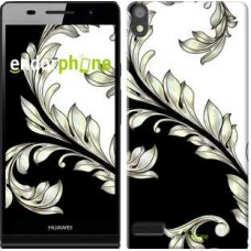 Чехол для Huawei Ascend P6 White and black 1 2805c-39
