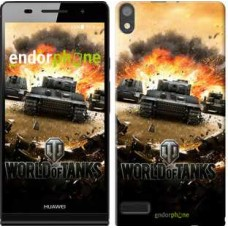 Чехол для Huawei Ascend P6 World of tanks v1 834c-39