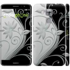 Чехол дя Huawei Nova Plus Цветы на чёрно-белом фоне 840m-961
