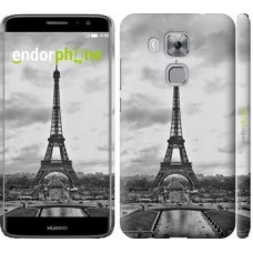 Чехол дя Huawei Nova Plus Чёрно-белая Эйфелева башня 842m-961