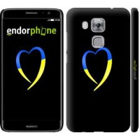 Чехол дя Huawei Nova Plus Жёлто-голубое сердце 885m-961