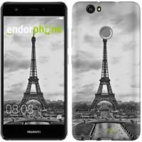 Чехол для Huawei Nova Чёрно-белая Эйфелева башня 842m-439