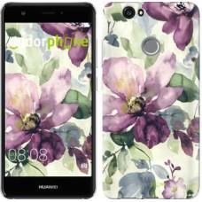 Чехол для Huawei Nova Цветы акварелью 2237m-439