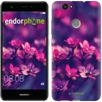 Чехол для Huawei Nova Пурпурные цветы 2719m-439