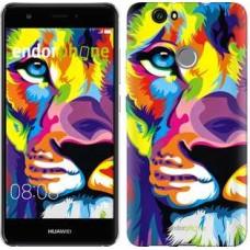 Чехол для Huawei Nova Разноцветный лев 2713m-439
