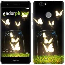 Чехол для Huawei Nova Светящиеся бабочки 2983m-439