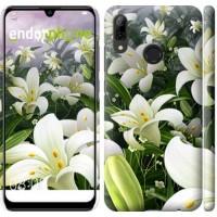 Чехол для Huawei P Smart 2019 Белые лилии 2686m-1634