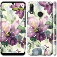 Чехол для Huawei P Smart 2019 Цветы акварелью 2237m-1634