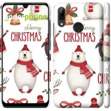 Чехол для Huawei P Smart 2019 Merry Christmas 4106m-1634