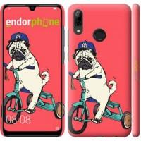 Чехол для Huawei P Smart 2019 Мопс на велосипеде 3072m-1634