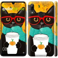 Чехол для Huawei P Smart 2019 Осенний кот 4026m-1634