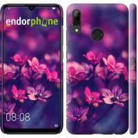 Чехол для Huawei P Smart 2019 Пурпурные цветы 2719m-1634