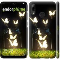 Чехол для Huawei P Smart 2019 Светящиеся бабочки 2983m-1634