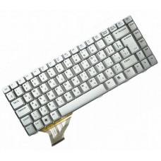 Клавиатура для ноутбука Asus A8, A8E, A8M, A8F, A8H, A8J, F8, N80, X80, Z99, Z99H, Z99J, W3, W3A, W3N, W3J, W6, W3000 RU, Silver  (04GNCB2KRU14)