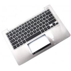 Клавиатура для ноутбука Asus X201, X201E, X202, X202E RU Black, Silver Top Case (0KNB0-1120RU00)