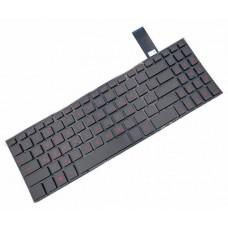 Клавиатура для ноутбука Asus FX570 Series RU, Black, Without Frame, Backlight (0KNB0-5603RU00)