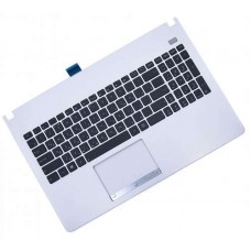 Клавиатура для ноутбука Asus X501 Black, White Top Case (0KNB0-6124RU00)