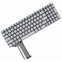 Клавиатура для ноутбука Asus N551, N751 RU Silver, Without Frame, Backlight (0KNB0-662BRU00)