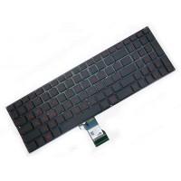 Клавиатура для ноутбука Asus N501 Series RU, Black, Without Frame, Backlight (0KNB0-662LRU00)