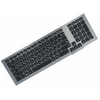 Клавиатура для ноутбука Asus G75, G75Vw, G75Vx Black, Gray Frame, Backlight (0KNB0-9410RU00)