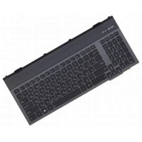 Клавиатура для ноутбука Asus G55 Series RU, Black, Black Frame, Backlight (0KNB0-B411RU00)