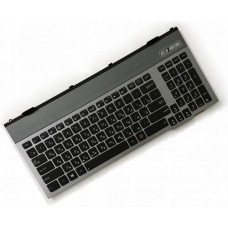 Клавиатура для ноутбука Asus G55 Series RU, Black, Gray Frame, Backlight (0KNB0-B411RU00)