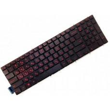 Клавиатура для ноутбука Dell Inspiron 7566, 7567 RU, Black, Backlight (0KX8XW)