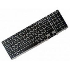 Клавиатура для ноутбука Sony SVE1511, SVE1711, SVE1712 RU, Black, Gray Frame (149031851)