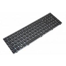 Клавиатура для ноутбука Lenovo IdeaPad B570, B575, B580, B590, V570, V575, V580, Z570, Z575 RU, Black, Gray Frame (25-200938)
