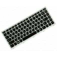 Клавиатура для ноутбука Lenovo IdeaPad U310 RU, Black, Silver Frame (25-204960)