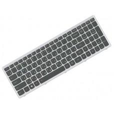 Клавиатура для ноутбука Lenovo IdeaPad Z500, Z500A, Z500G, Z500T, P500, P500A RU, Black, Silver Frame (25-209281)