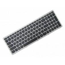 Клавиатура для ноутбука Lenovo IdeaPad Flex15, G500S, G505A, G505G, G505S, S500, S510, S510P, Z510 RU, Black, Silver Frame, Backlight ( 25-211031)