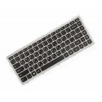 Клавиатура для ноутбука Lenovo IdeaPad Flex 14, G400s, G405s, S410p, Z410 RU, Black, Gray Frame (25-211121)